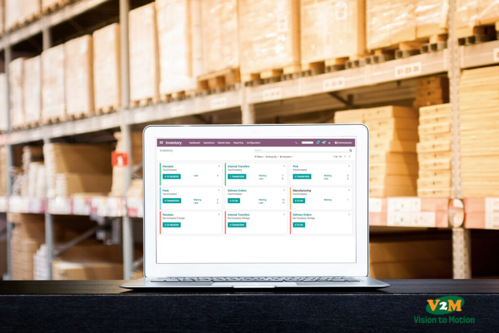 using Software in warehouse