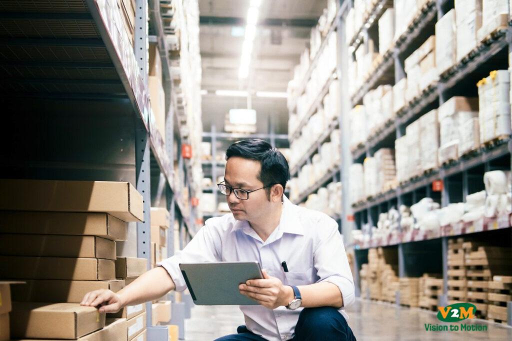 checking goods at warehouse